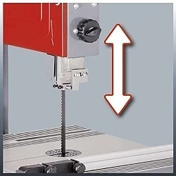 Altura de corte sierra cinta einhell tc-sb 305 u